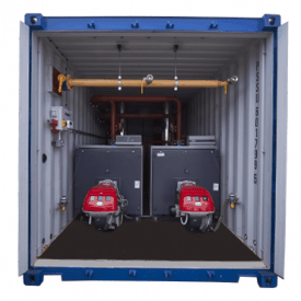 1.2MW Containerised Boiler hire rent cross hire services