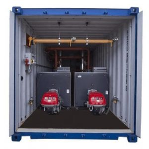 1.2MW Boiler – 600kW Dual Burner Containerised