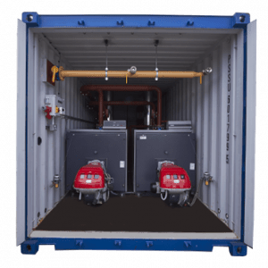 1.2MW Container Boiler – 600kW Dual Burner