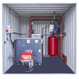 Containerised Boiler hire rent cross hire services