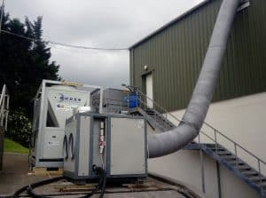 Mobile Cooling Solution For Irish Duck Company – 150 kW Chiller Hire