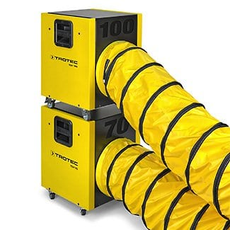 teh100 stackable units with hose