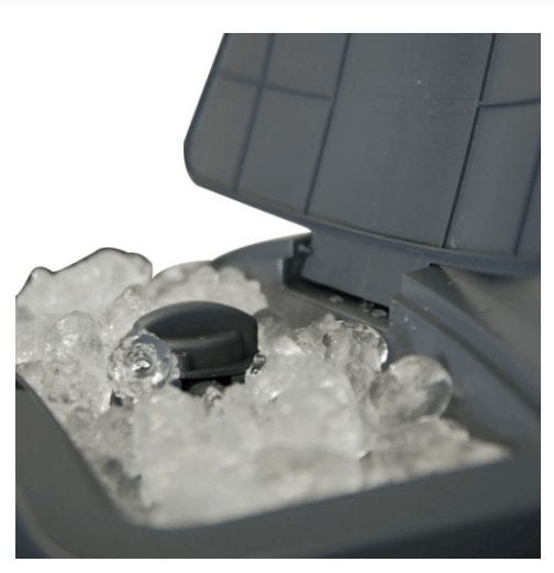 Portable Evaporative Cooler ice container for added cooling temperature