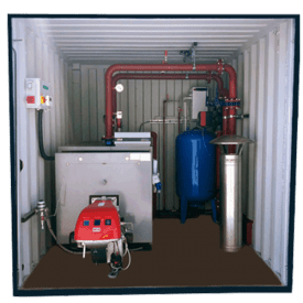 boiler hire rent containerised Cross hire services