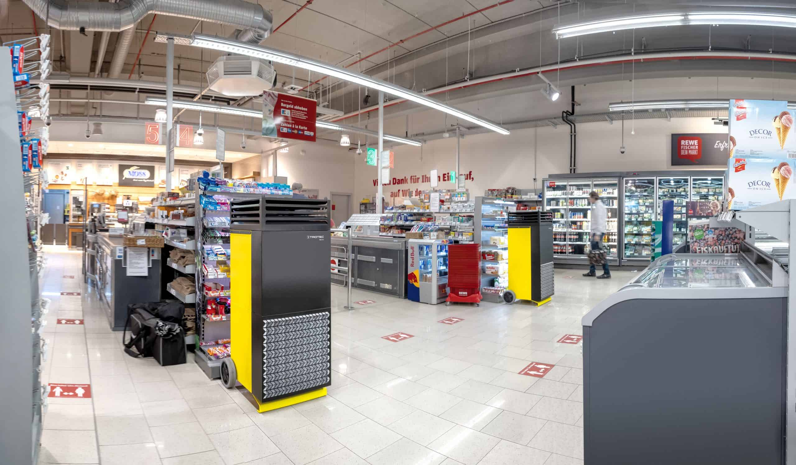 TACV+ running in retail store