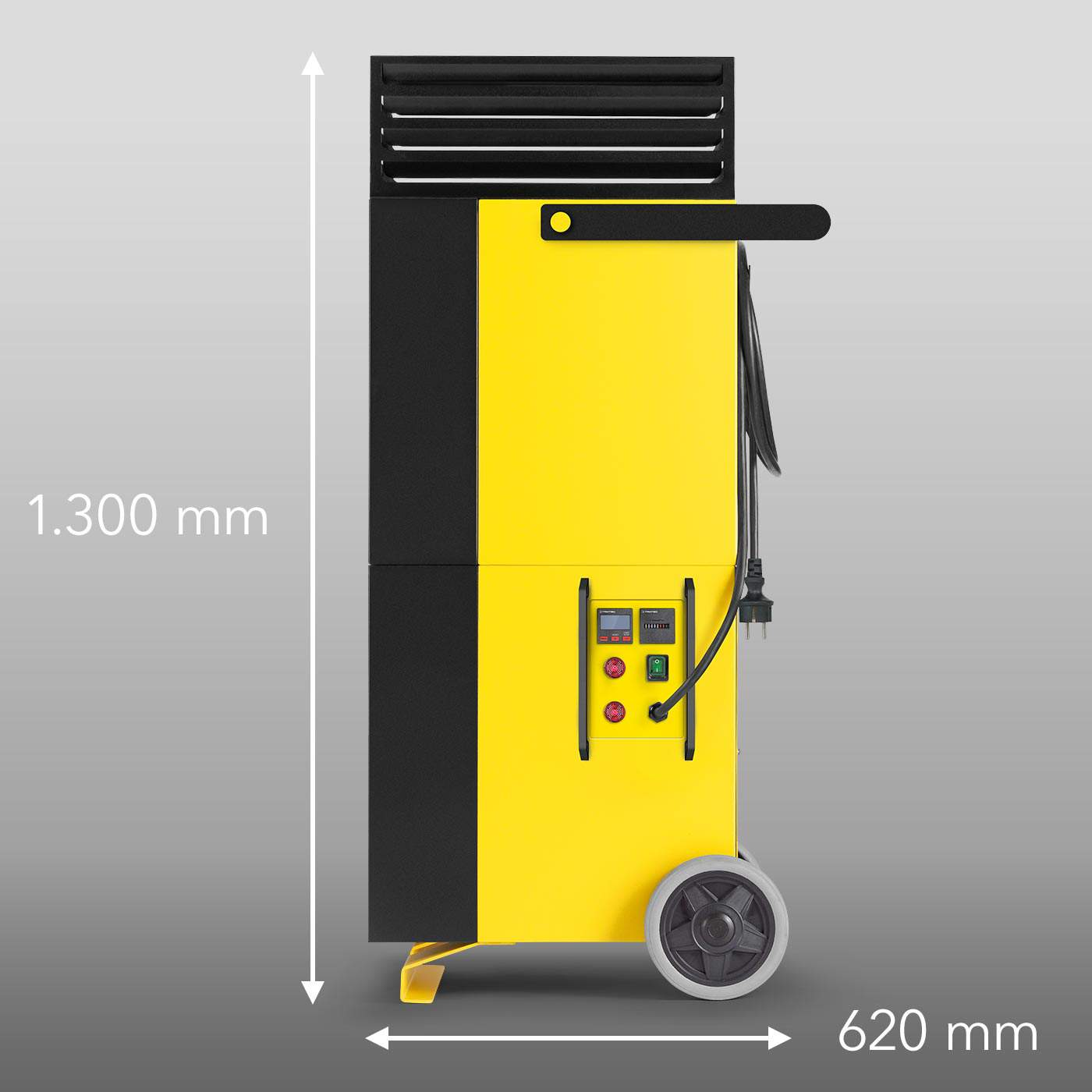 Side view TAC V+ with height and length mm